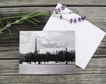 "Paris Photo Notecard - ""Place de la Concorde"" - Single Folded Card with Envelope, Blank Inside"
