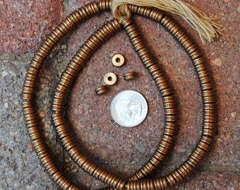 Indian Bronze Metal Disk Beads