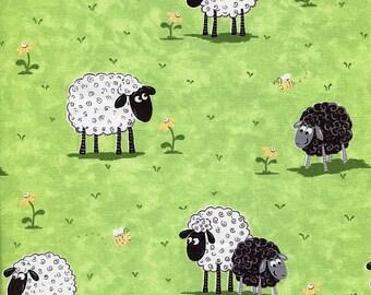 Sheep Green Meadow - World of Susybee - Half Yard