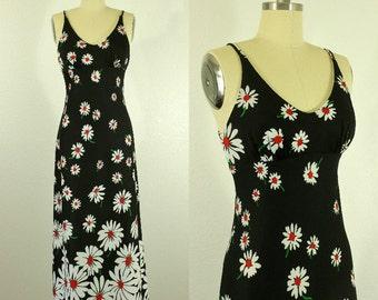 1970's Daisy Maxi Dress S M Jack Hartley Sundress