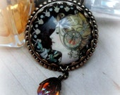 Art Nouveau Jewelry Necklace Mucha Jewelry Goddess Gift Cameo Necklace Alphonse Mucha Goddess Jewelry Romantic Gifts for Women