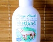 Shetland Buttermilk Honey Scented Hand Cream for Knitters - Refillable 1oz Tottle - HAPPY HANDS Lightly Scented Shea Butter Hand Lotion