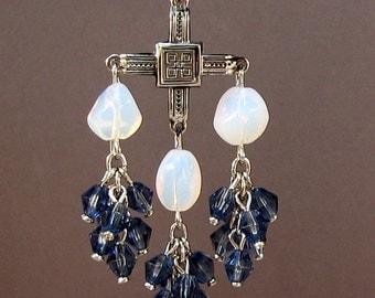 Blue Moon Celtic Chandelier Earrings