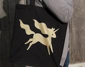 Unicorn Empire Tote Bag - Black and Gold Unicorn Tote Bag