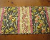 Table Runner, Quilted Table Runner, Handmade Table Runner, Iris Flowers, Home Decor, Floral Table Runner,