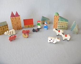 Vintage Wood Farm Set, Germany, Western Germany, Play Set