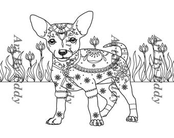 Art of chihuahua coloring book volume no 1 physical book for Chihuahua coloring pages
