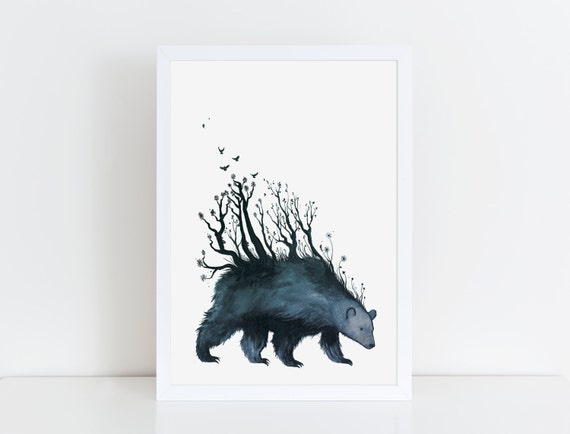 Bear is the Forest art print