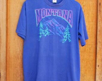 Retro Vintage 1993 Montana Neon Tshirt - Large