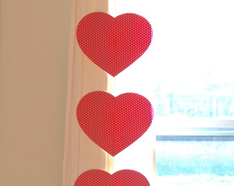 Oversize Hearts Garland Set - pair of large heart banners in Red, Pink or White