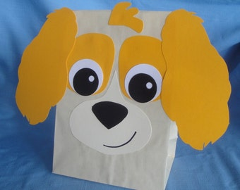Cocker Spaniel Treat Sacks - Dog Puppy Pet Theme Birthday Party Favor Bags by jettabees on Etsy