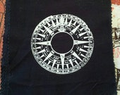 Compass Rose: Screen Printed Patch