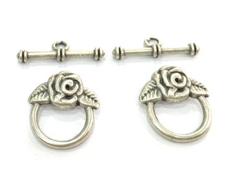 2 sets Antique Silver Plated  Toggle Clasp, Findings G4654