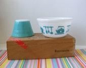 Vintage Hazel Atlas Kitchen Aids, Kitchen Utensils Bowl 5 Inch, Teal Hazel Atlas, Aqua Hazel Atlas, Turquoise, Scalloped Edge Bowl, 1950s