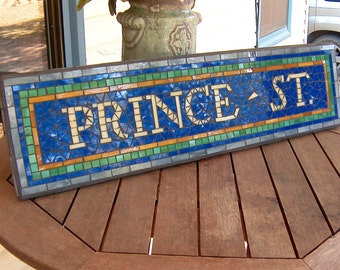 New York City Subway Mosaic Sign / Plaque - Prince St. Replica  - NYC