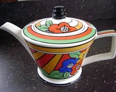 Clarice Cliff Art Deco Inspired Bizarre Ware Teapot