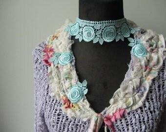 Lavender Purple Shabby Chic Long Cardigan, Tattered Mori Girl Sweater, Upcycled Recycled Eco Fashion, Romantic Pastel Sweater Cardigan