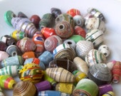 65 paper beads - mix colors -