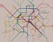 Paris Metro Cafe Mount- 12x12