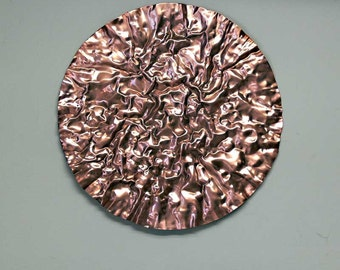 Copper Disc Wall Sculpture Large