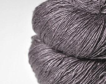 Dead walnut wood - Tussah Silk Fingering Yarn