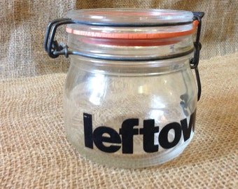 Glass Leftovers Jar Container