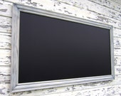 "Barnwood Style LARGE KITCHEN CHALKBOARDS For Sale HuGE 53""x28"" Taupe Rustic Wood Grain Magnetic Rectangular Framed Chalk board Rustic Framed"