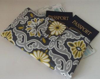 Dollbirdies Long Boarding Pass Passport Wallet, Travel Wallet, Passport Holder, Passport Case