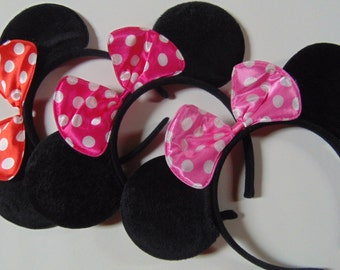Minnie Mouse Party Ears, Minnie Ears, Minnie Mouse Party Favors, Party Gifts