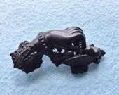 Victorian Pressed Horn Hand Brooch