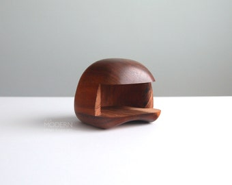 "Dean Santner Sculpted ""Rock Box"" Wood Object Mid Century Modern"