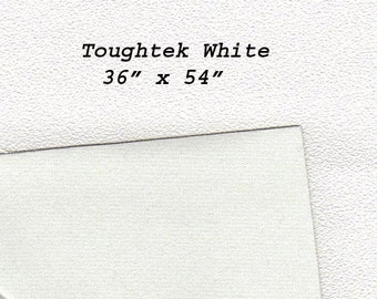 Toughtek Non slip White Fabric 54 by 36 inches