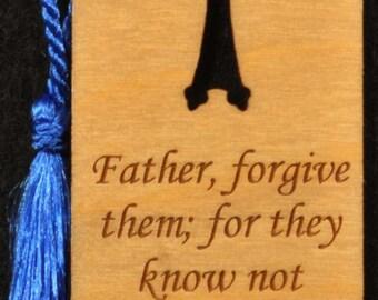 Wood Scripture Bookmark - Luke 23:34