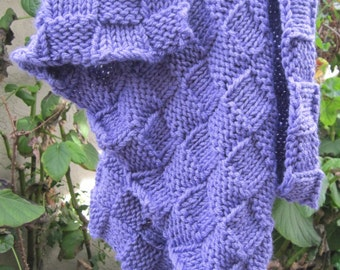 Knit baby blanket smaller sized (purple)