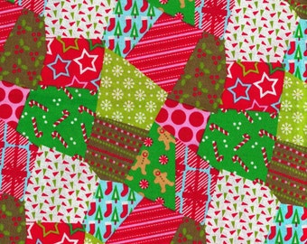 Christmas Quilt Fabric - New - great for quilting, sewing and crafts, folk, patch work
