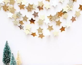 glittery stars garland