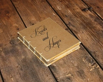 Custom Wedding Book, Bride and Groom, Woodland Wedding Decor, Vow books, Gift for Engagement Party, Bride to be Gift