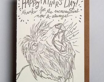 Letterpress greeting card, Happy Father's Day