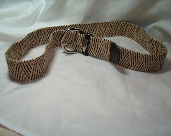 Liz Claiborne 1994 Brown and Beige Woven Belt.