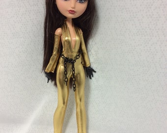Gold Cat Suit Set Fashion Clothing Designed  for Your Ever After High or Monster High Doll
