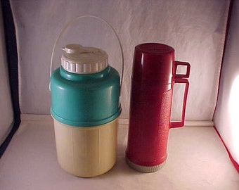 Plastic Drink Jug and Thermos Brand Thermos