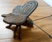 Vintage Butterfly Rustic Metal Decor Figurine for Kitchen Porch or Garden