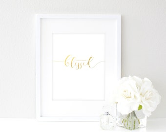 Immeasurably Blessed | 8x10 Gold Foil Print
