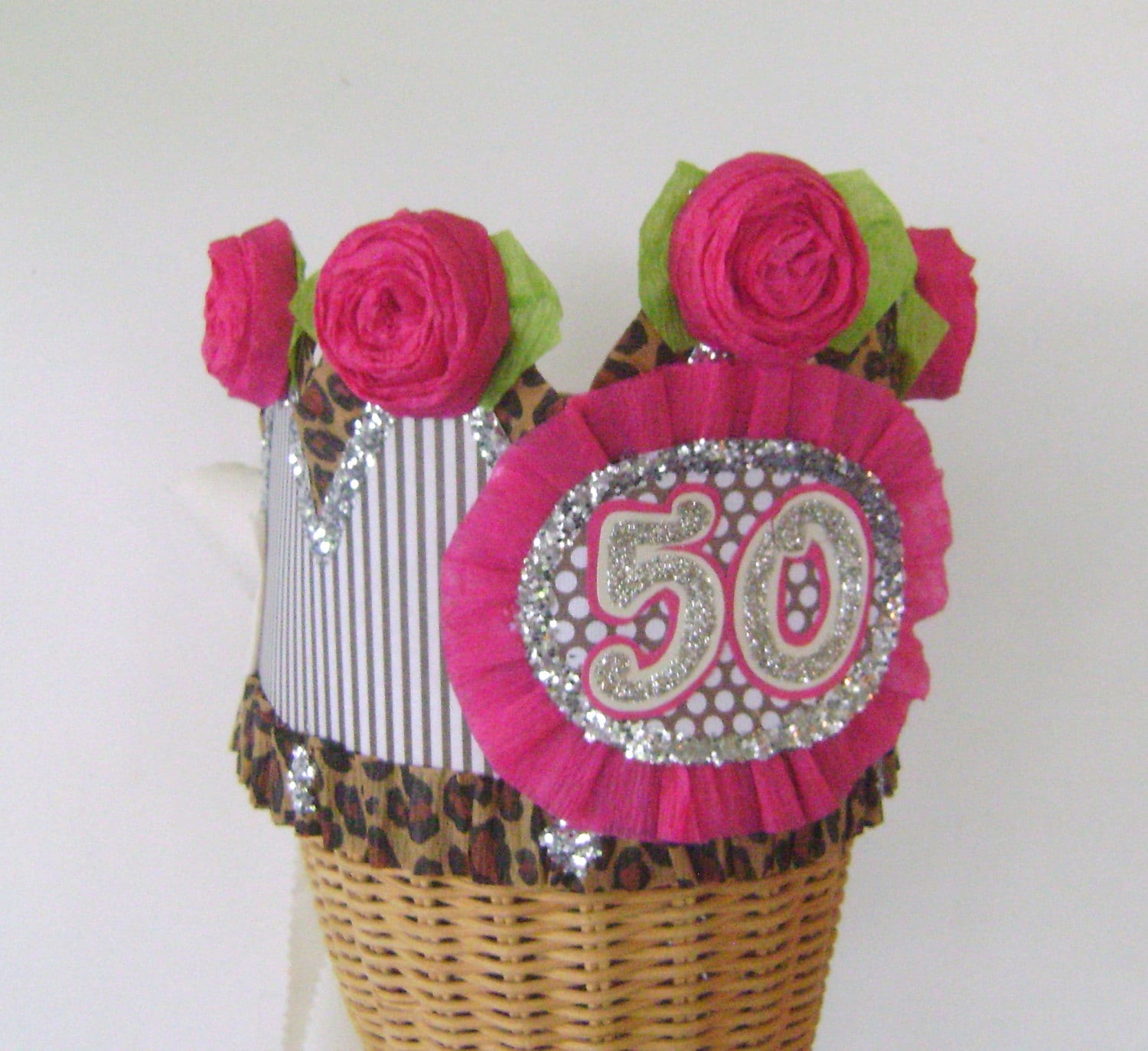 50th Birthday Party Crown 50th Birthday Party Hat Adult