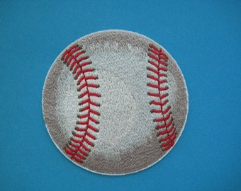 SALE~ Iron-on Embroidered Patch Baseball 3 inch