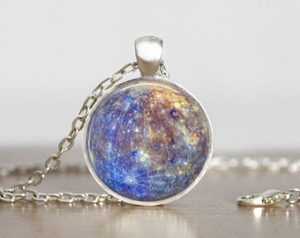 Mercury Pendant Jewelry Mercury  Necklace planet jewelry