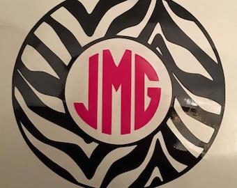 Vinyl Zebra Initial Decal