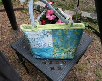 Turquoise Batik Handbag