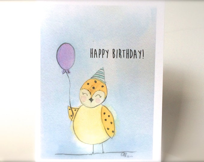 Bird Birthday Card, Art Birthday Card, Watercolor Birthday Card, Hope You Have The Best Day Ever, for men, masculine birthday card