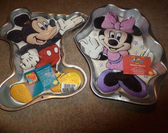 Rare New Wilton Minnie Mouse Or Mickey By Kakeladiescakepans